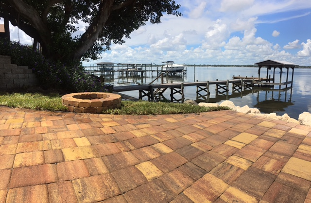 Pavers installed by Brevard Outdoor Services